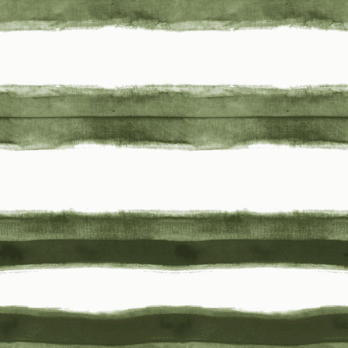 Stripe Olive Wallcovering