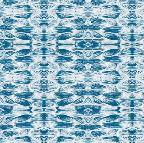 Weave Summer Blue Fabric
