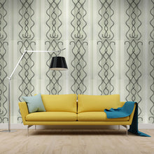 Load image into Gallery viewer, LITTLE CECE Bone & Charcoal Wallcovering