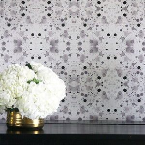 Splatter Stone Grey Wallcovering