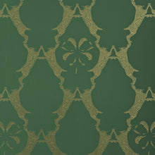 Load image into Gallery viewer, Boxing Hares  Billiard Green Wallpaper