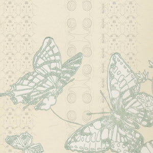 Bugs & Butterflies Ice Blue Wallpaper