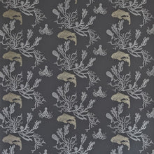 Load image into Gallery viewer, Coral Charcoal Gold Wallpaper