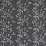 Coral Charcoal Gold Wallpaper