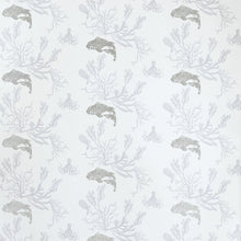 Load image into Gallery viewer, Coral Pale Grey Silver Wallpaper