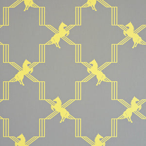 Horse Trellis Acid On Grey Wallpaper