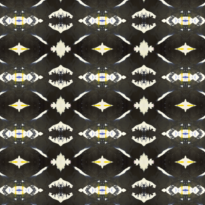 125-4 Black Yellow Wallcovering