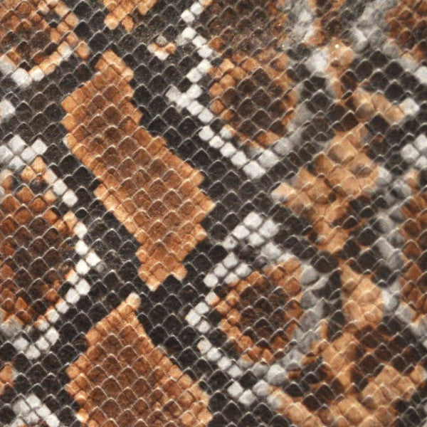 Python Copper Printed Leather