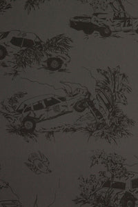 Toile de Derby Burnt Rubber Wallcovering