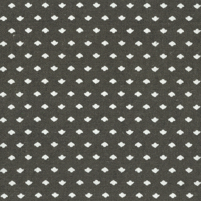 Calico Dot Charcoal Fabric