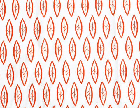 Leaf Tangerine Fabric
