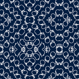 Chics Navy White Fabric