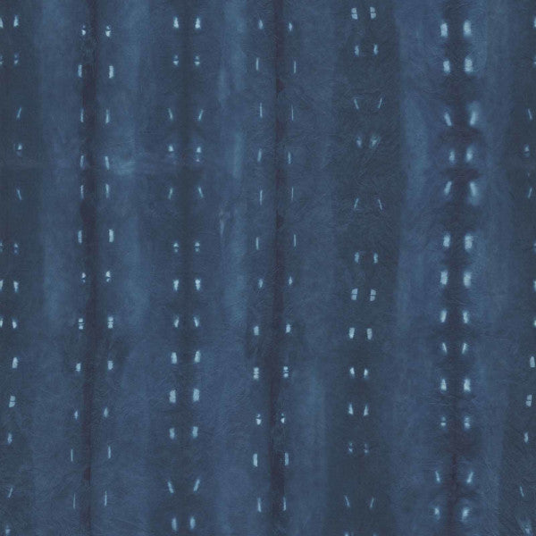 Cityscape Night Indigo Fabric