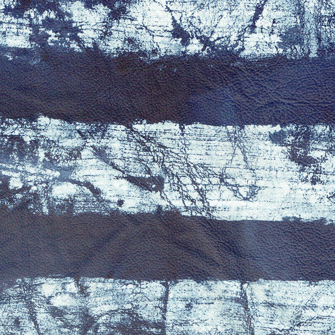 Crackle Stripe Indigo Leather