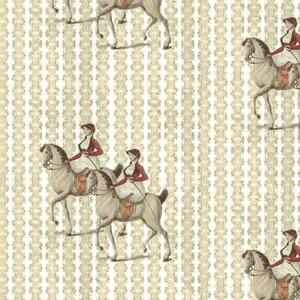 Equestrian Day Diagonal Fabric