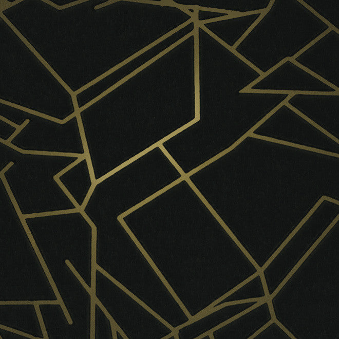 Angle Black Gold Wallcovering