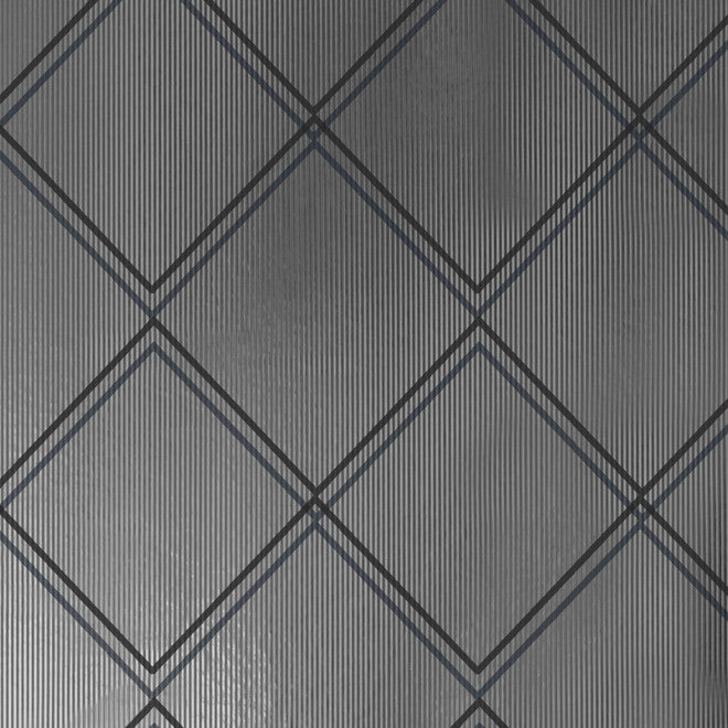 Argyle Charcoal Silver Wallcovering
