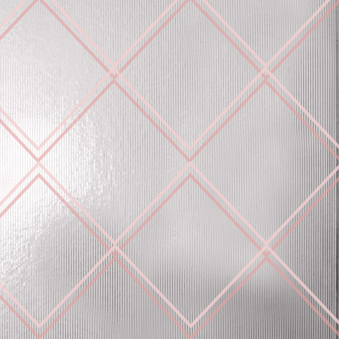 Argyle Pink Silver Wallcovering