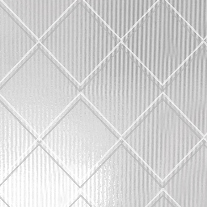 Argyle White Silver Wallcovering