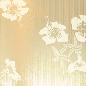 Hibiscus Gold Cream Wallcovering