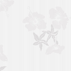 Hibiscus Grey White Wallcovering