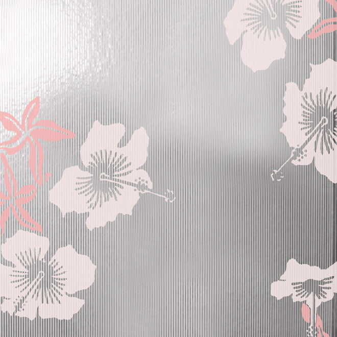 Hibiscus Pink Silver Wallcovering