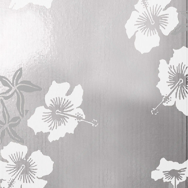 Hibiscus White Silver Wallcovering