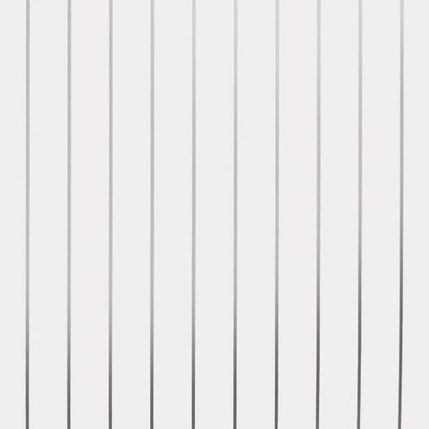 Pinstripe White Silver Wallcovering