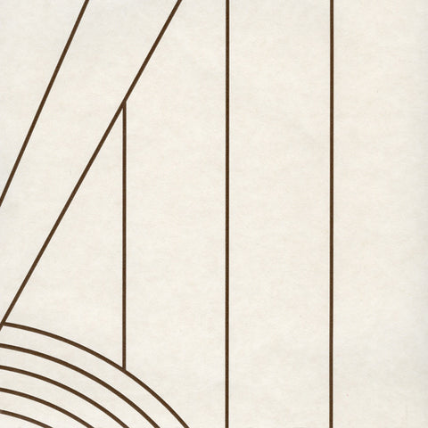 Spiral Brown Cream Wallcovering