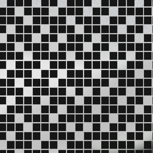 Tiles Black Silver Wallcovering