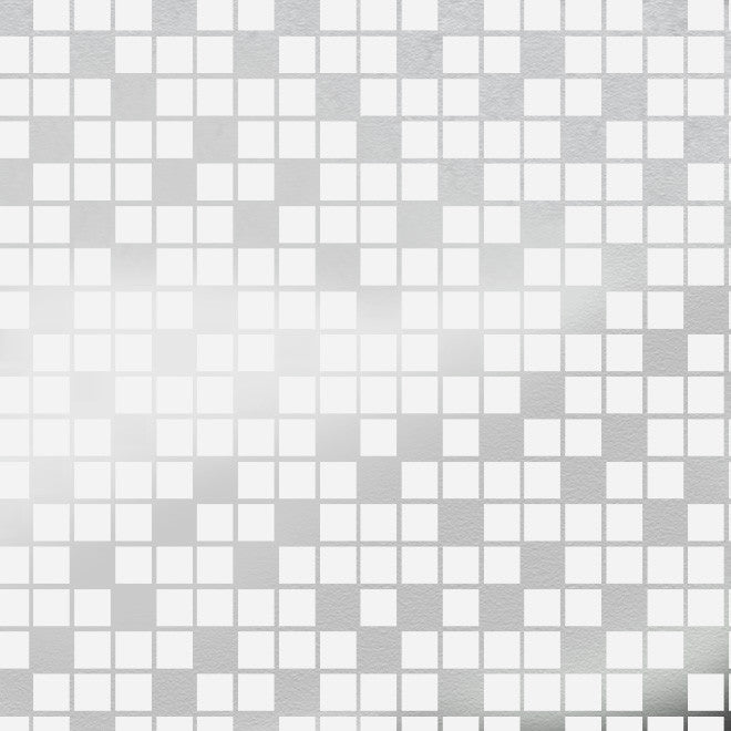 Tiles White Silver Wallcovering