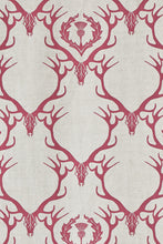 Load image into Gallery viewer, Deer Damask - Claret Fabric