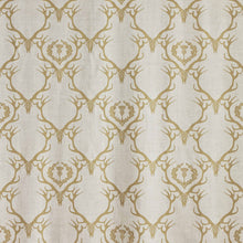 Load image into Gallery viewer, Deer Damask - Gold Fabric