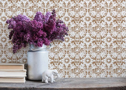 FLEUR DE SEL in Metallic Gold Wallcovering