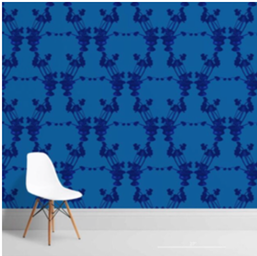 Frida Blue Wallcovering