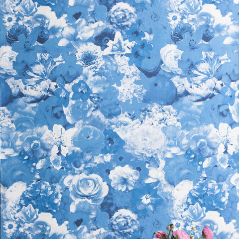 Full Bloom Delphinium Wallcovering