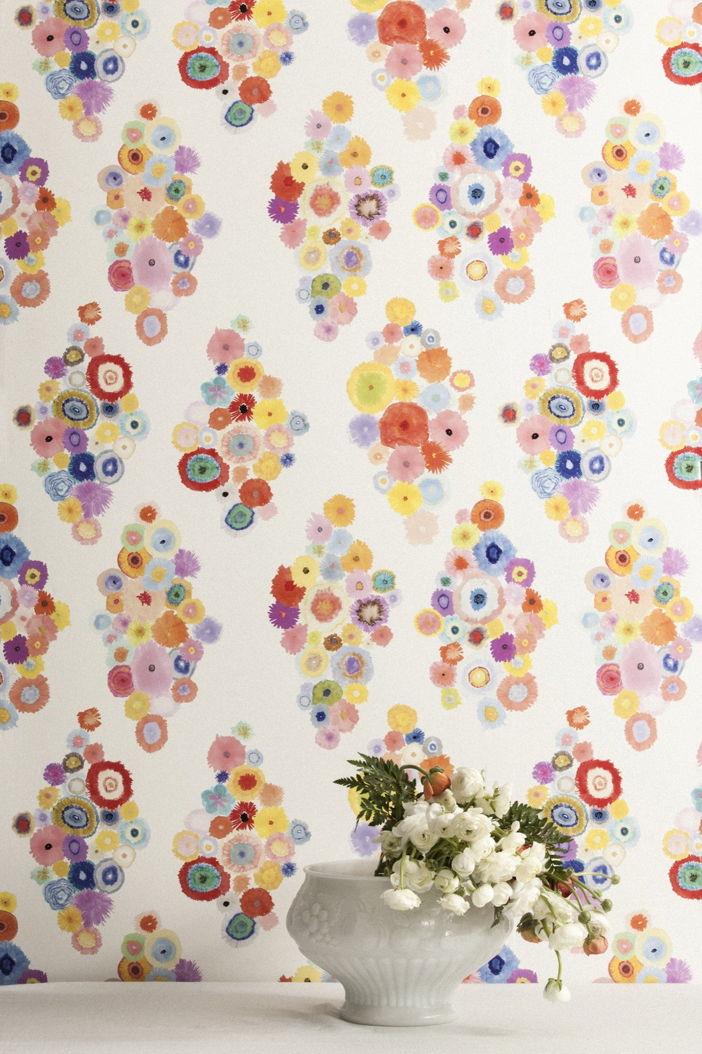 Flora Soft Focus Wallcovering
