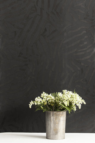 Folded Black Velvet Wallcovering