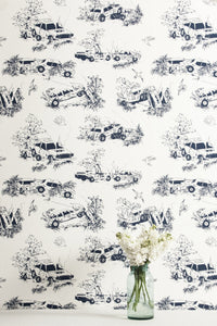 Toile de Derby Driver's Door Wallcovering