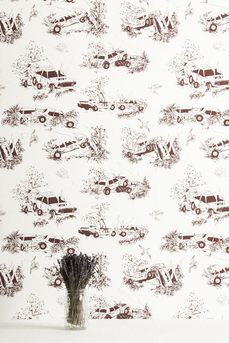 Toile de Derby Modified Feature Wallcovering