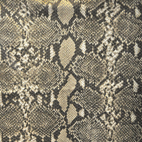 Python Gold and Brown Printed Leather