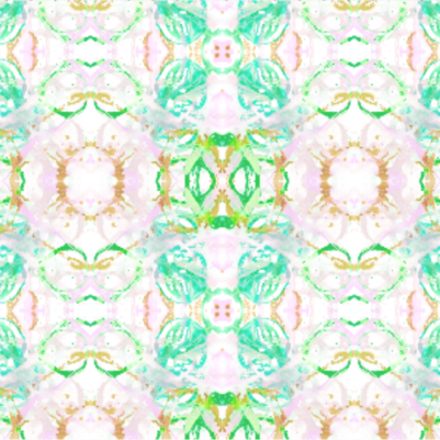 411 Green Blush Turquoise Fabric