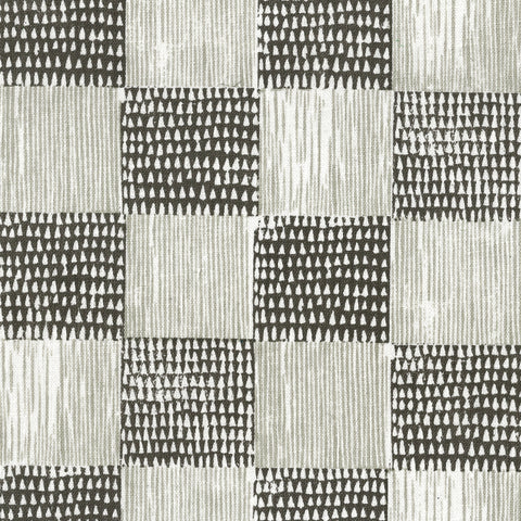 Guinea Plaid Charcoal Shale Fabric