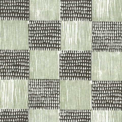 Guinea Plaid Charcoal Willow Fabric
