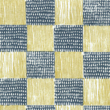 Load image into Gallery viewer, Guinea Plaid Navy Golden Fabric
