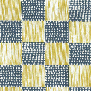 Guinea Plaid Navy Golden Fabric