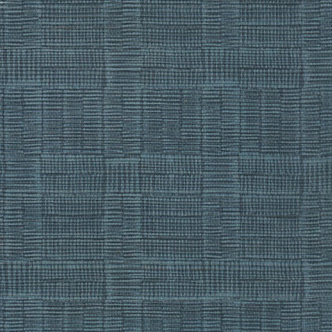 Hash Dark Navy Metallic Grasscloth Wallcovering
