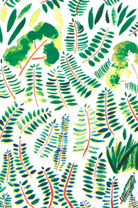Burma Indian Holly Fern Wallcovering