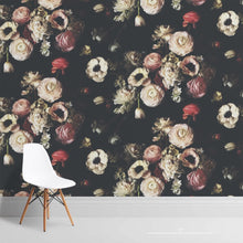 Load image into Gallery viewer, Into The Garden Black Wallcovering