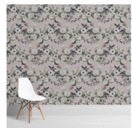 Into The Garden Blush Wallcovering